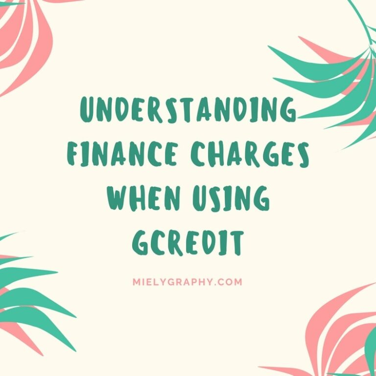 GCredit finance and interest charges