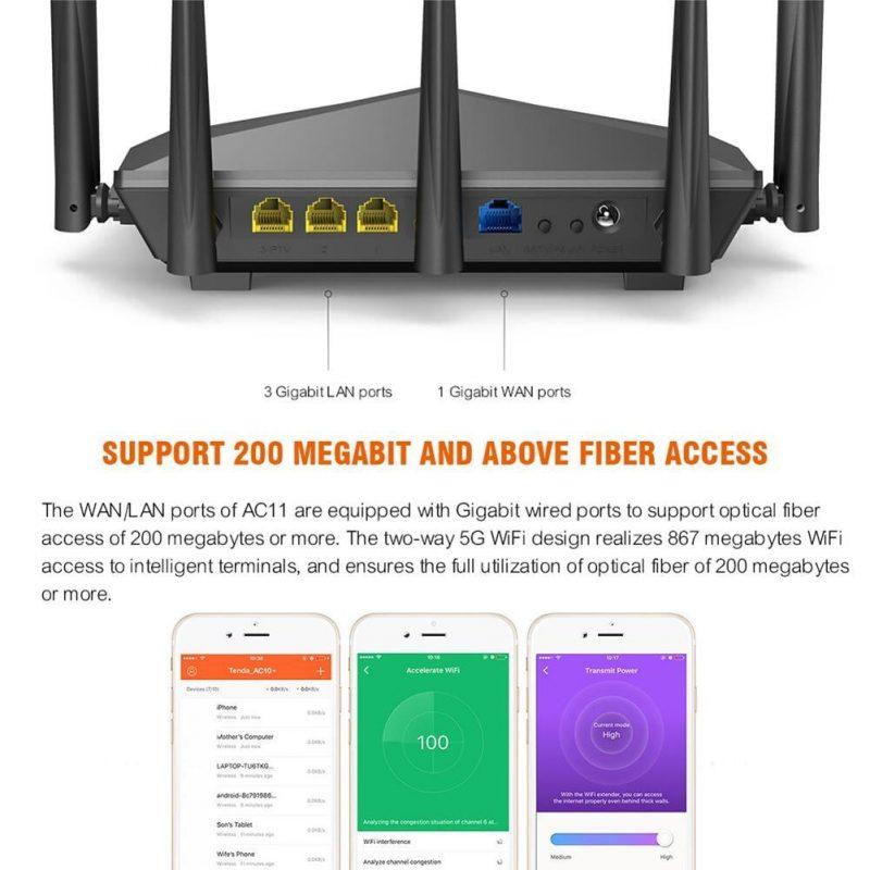 200Mbps Lan Support